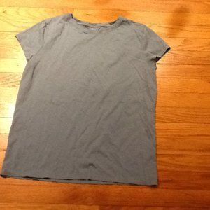 Unusual Pale Turquoise Color Sateen Tee